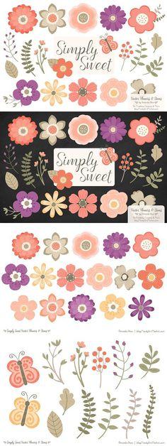 Watercolor wedding flowers clipart | Watercolors, Watercolor ...
