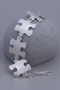 Puzzle Bracelet Sterling silver by CarolineMillerDesign on Etsy, $145.00
