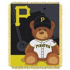 Pittsburgh Pirates MLB Triple Woven Jacquard Throw Field Baby Series 3
