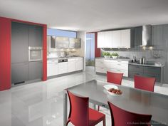 Kitchen Idea of the Day: Modern white kitchens. (By ALNO, AG ...