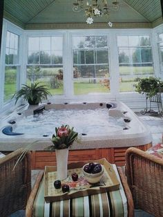 Solarium hot tub Sauna room would feel SO GOOD to my bones!