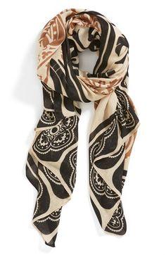 Tarnish 'Tell Tale Henna' Scarf | Nordstrom  Classy...beautiful scarf. -Penny-