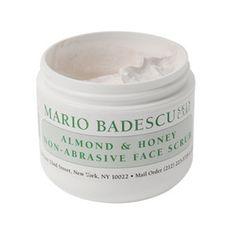 (sweet almond oil, honey, finely ground cornmeal/almond)    gently exfoliates and refines dry flaky skin