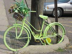 Bike outside flower shop