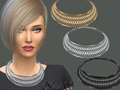 The Sims Resource: Cage Collar Necklace by NataliS • Sims 4 Downloads
