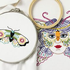 Psychedelic Butterfly Embroidery Pattern