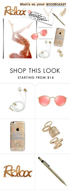 """What's on your moodboard?"" by deeyanago ❤ liked on Polyvore featuring interior, interiors, interior design, home, home decor, interior decorating, Ray-Ban, Agent 18 and Topshop"