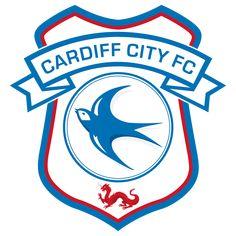 Cardiff City FC logo), The Championship, Cardiff, País de Gales. Cardiff City Fc, Cardiff City Football, British Football, English Football League, Manchester City, Manchester United, City Logo, Middlesbrough, English Premier League