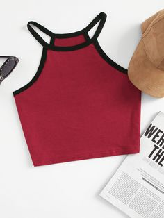 SheIn offers Crop Ringer Racer Cami & more t. SheIn offers Crop Ringer Racer Cami & more to fit your fashionable needs. Source by anoukstrache - Teen Fashion Outfits, Outfits For Teens, Summer Outfits, Womens Fashion, Crop Top Outfits, Cute Casual Outfits, Cute Crop Tops, Cami Tops, Halter Tops