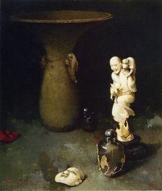 Still Life Painting by Soren Emil Carlsen American Artist