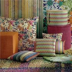 bouquet ottomans & poufs by missoni home