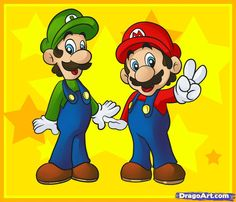 How to Draw Mario Bros, Step by Step, Video Game Characters, Pop ...