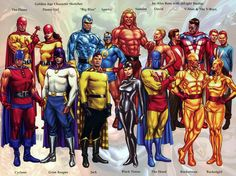 Golden Age Character Sketches by Alex Ross (with inLight Studio) Superhero Characters, Comic Book Characters, Comic Character, Comic Books Art, Character Design, Book Art, Arte Nerd, Alex Ross, Gi Joe