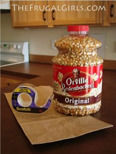 Homemade Microwae Popcorn Recipe- I am pinning it because a recipe for kettle corn is In The comments!