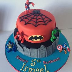 #Superhero #birthday_cake. My 5 year old boy would love this!!! @Joanne Fitzpatrick