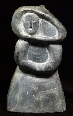 AN INUIT SOAPSTONE CARVING. 9 x 5 inches.