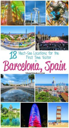 Make your travel planning to the Catalonian capital stress-free. Check out these 18 must-see locations for the first time visitor in Barcelona, Spain! #barcelona #spain #travel #destinations