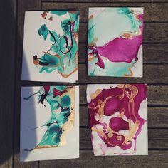 Creating Paper Dreams: the student makes - diy marble paper