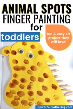 cute art project for toddlers that uses paint and finger prints with their fav animals! Cute Art Projects, Toddler Art Projects, Toddler Fun, Toddler Preschool, Finger Painting For Toddlers, Craft Activities For Kids, Fine Motor Skills, Crafts To Do, Prints