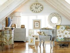 Storage in a new light: Hand-painted chests conceal clutter and show off eclectic style