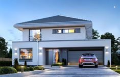 home fachadas Koszty realizacji: - home Two Story House Design, Small House Design, Modern House Design, Future House, My House, Morden House, 4 Bedroom House Designs, Modern House Plans, Home Interior Design