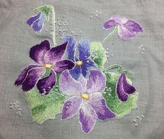 Peinture à l'aiguille réalisée par Anne-Marie