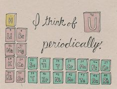 You think of uranium periodically? Erm, okay... (Periodic Table Greeting Card Science by SouthernPestPrints on Etsy)