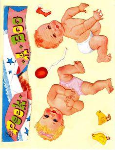 Paper Dolls~Peek-A-Boo Babies - Bonnie Jones - Picasa Albums Web