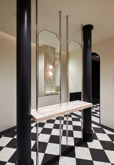 Interior Architecture, Oversized Mirror, Powder Rooms, Studio, Bathrooms, Furniture, Design, Home Decor, Architecture Interior Design