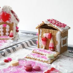 Christmas has the gingerbread house and Valentine's Day has the Love Shack! A fun and tasty treat to make with the kids this Valentine's Day.