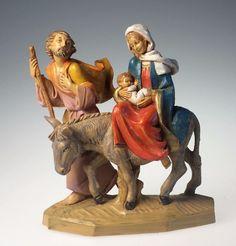 Fontanini Nativity Flight into Egypt Holy Family 5 In Italy Fountain Mark 1986 #Fontaninni