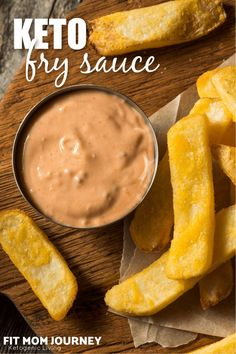 Sweet and tangy, Keto Fry Sauce takes just a few simple ingredients and tastes good with everything. From fries and burgers, to vegetables, Keto Fry Sauce takes all foods to the next level! Vegan Keto Recipes, Ketogenic Recipes, Low Carb Recipes, Ketogenic Diet, Keto Sauces, Low Carb Sauces, Turnip Fries, Primal Kitchen, Fry Sauce