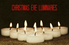 It just wouldn't be Christmas Eve without luminaries ~ such an easy #DIY for tomorrow and it creates a magical night!