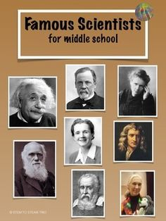 This is a collection of eight single page posters of famous scientists.  Each poster includes a picture of the scientist and a short description of the scientist's contributions written appropriately for the middle school level. When hung in the classroom these posters can be viewed by the students and referred to  throughout the year as different topics arise when teaching the Next Generation Science Standards.