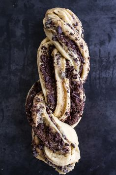 salted chocolate and marzipan babka//half baked harvest Scones, Just Desserts, Dessert Recipes, Salted Chocolate, Chocolate Filling, Half Baked Harvest, Bread And Pastries, Eat Dessert First, Sweet Bread