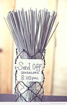 Idea original para decorar y celebrar una boda, bengalitas