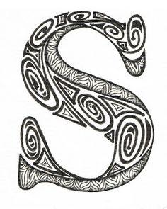 Creative Doodling with Judy West: Aztec Alphabet