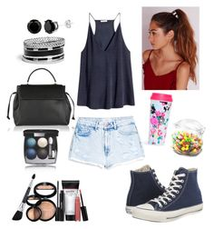 """""""..."""" by jowi123 on Polyvore featuring H&M, MANGO, Converse, Lanvin, Missguided, GUESS, Laura Geller, Chanel and Dot & Bo"""