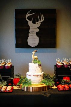 Krista O's Christmas/Holiday / Rustic Holiday Party - Photo Gallery at Catch My Party Deer Hunting Birthday, Hunting Party, Camo Birthday, Birthday Ideas, 12 Days Of Christmas, Christmas Holidays, Christmas Lodge, Christmas Countdown, Rustic Christmas