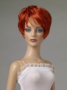 Tonner Doll wig: Nu Mood™ Jagged Cut/Bright Red Wig for Tyler Wentworth doll