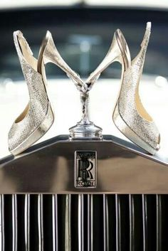 Two of my favorite things, shoes & cars. Rolls Royce, Jimmy Choo, and glamour Glamour, Jimmy Choo, Silver Wedding Shoes, Silver Shoes, Zapatos Shoes, Luxe Life, Fashion Moda, Fashion News, Sexy Heels