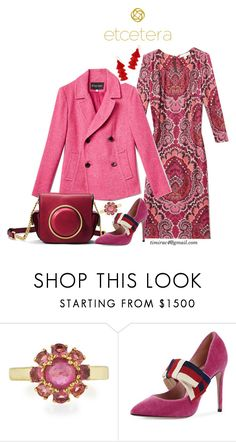 """""""Etcetera Fall 2017: Herringbone Peacoat with the Florence Dress"""" by timirac on Polyvore featuring Ippolita"""