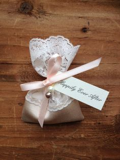 Lace Favor Bag Italian Wedding Favors Jewelry By Almercatino