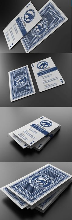 """Casino Style Business Card:  Casino style business card at 300DPI, CMYK , and 3,5"""" x 2"""" with bleed lines and guides included and enabled. All text layers are full type and can be edited with the click of a button. Also this files are easy to use and modify (colors, font etc.) with a well organized .PSD files. Fonts info included and they can be obtained for free on: dafont.com Purchase it here: http://graphicriver.net/item/casino-style-business-card/521643"""