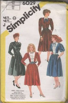 6029 Sewing Pattern Vintage Ladies V Front Yoke Dress 12 click picture to enlarge click picture to enlarge Thank you for coming in! Please look around my store while you are here as I have many more s