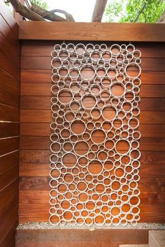 How to make a contemporary design as art work or a garden gate from PVC pipes.