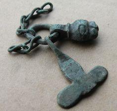 VIKING Period Bronze Scandinavian AMULET THOR'S HAMMER and GOD Face 900 AD VF++ | eBay