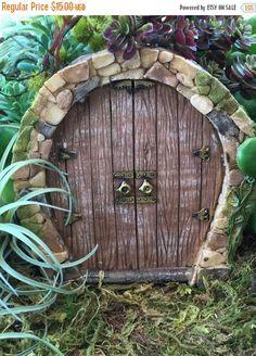 SALE Beautiful Enchanted Fairy Door, Miniature Gardening, Fairy Garden Accessory, Home and Garden Decor, Garden Supply