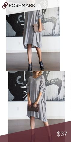 Hacci Sweater Knit Dress Long Roll Up Sleeve Dropped Shoulder Hacci Sweater Knit Round Neck Oversized Tunic Loose Fit Sweater Dress. Runs big.  Fabric : 68% ACRYLIC,17%NYLON,15%POLY .           NEW . BUNDLE AND SAVE. Dresses