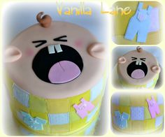 Crying baby cake - inspiration from Planet Cakes crying baby cupcakes